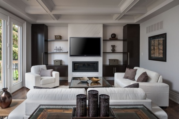Family room, real estate photography, interior design