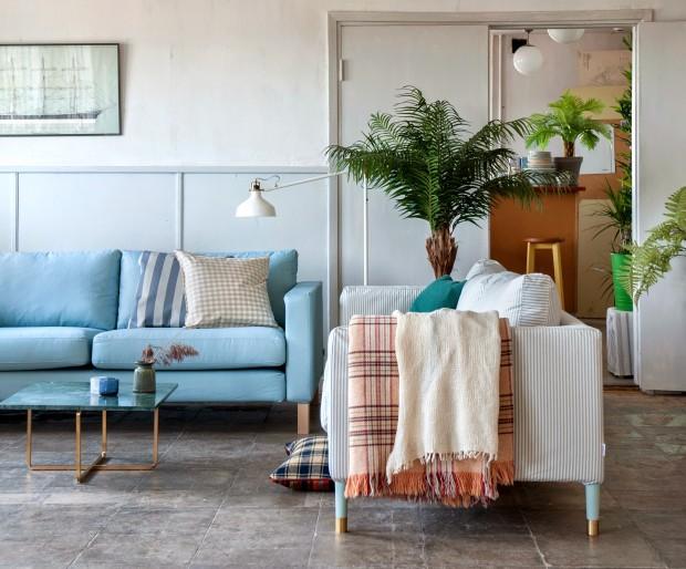 ikea hack bemz sofa covers blue