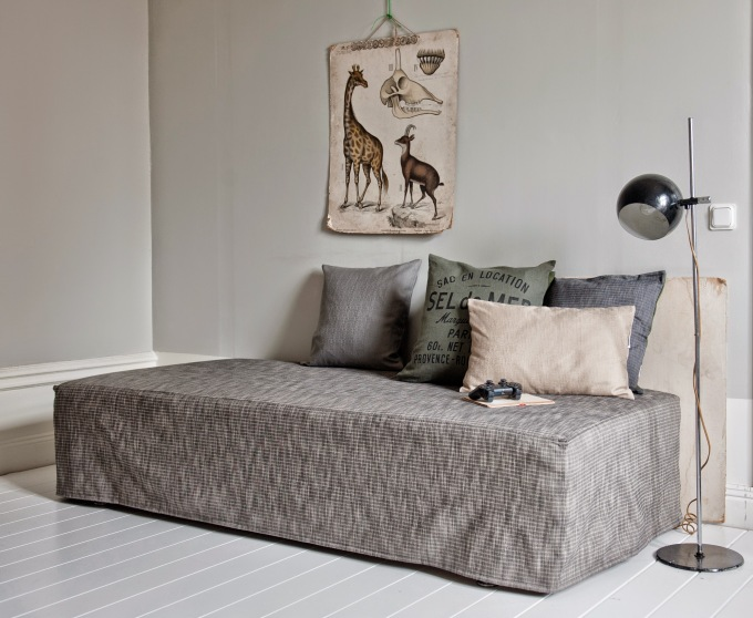 besk daybed cover ikea hack grey
