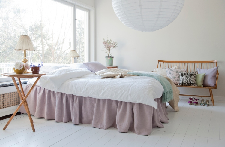 ikea bed skirt hack lilac