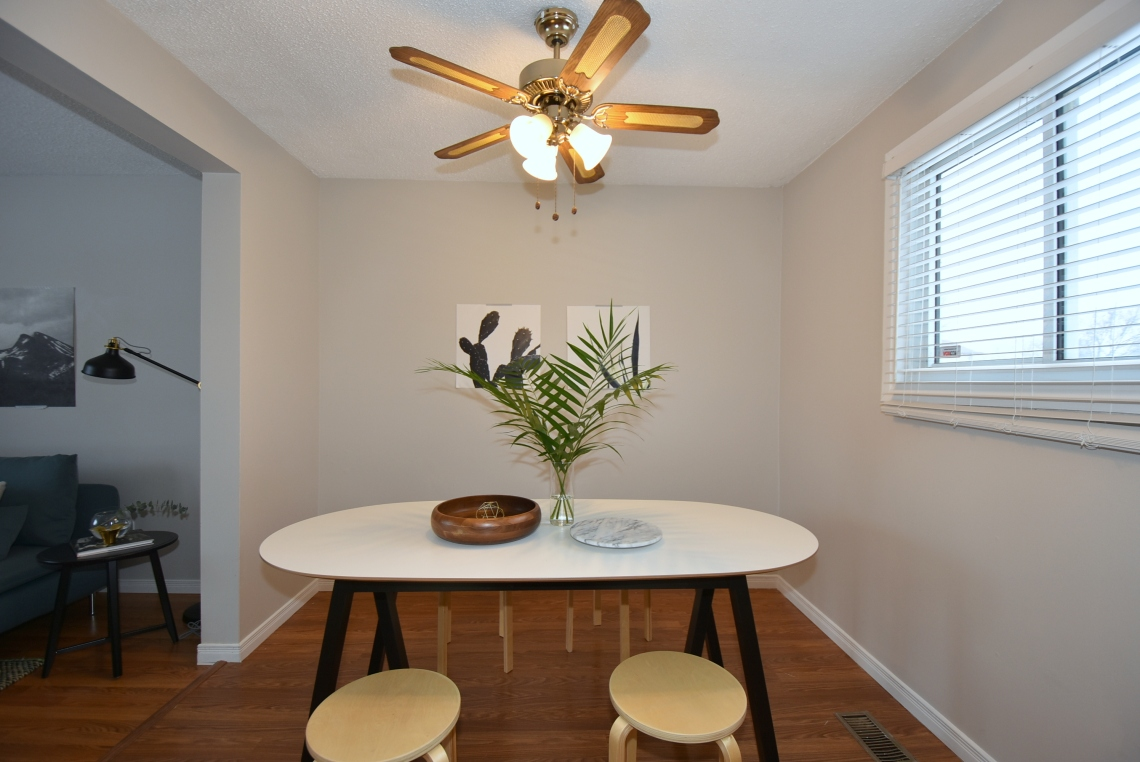 scandinavian style, modern style, dining room staging