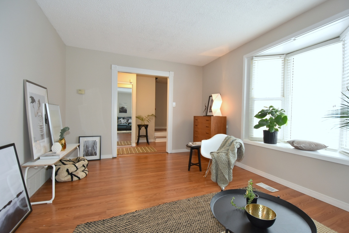 living room home staging, scandinavian style, modern style
