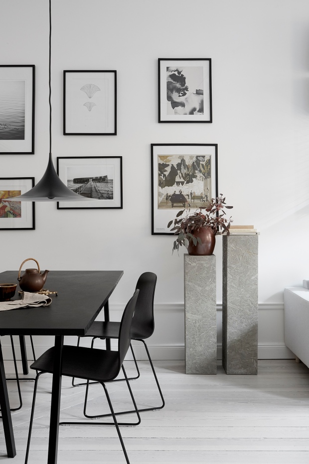 minimal style, dining table